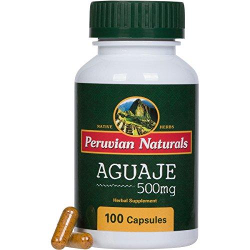 Aguaje 500mg - 100 Capsules - Peruvian Naturals | Moriche Palm Fruit Powder from Peru (Buriti in Brazil)
