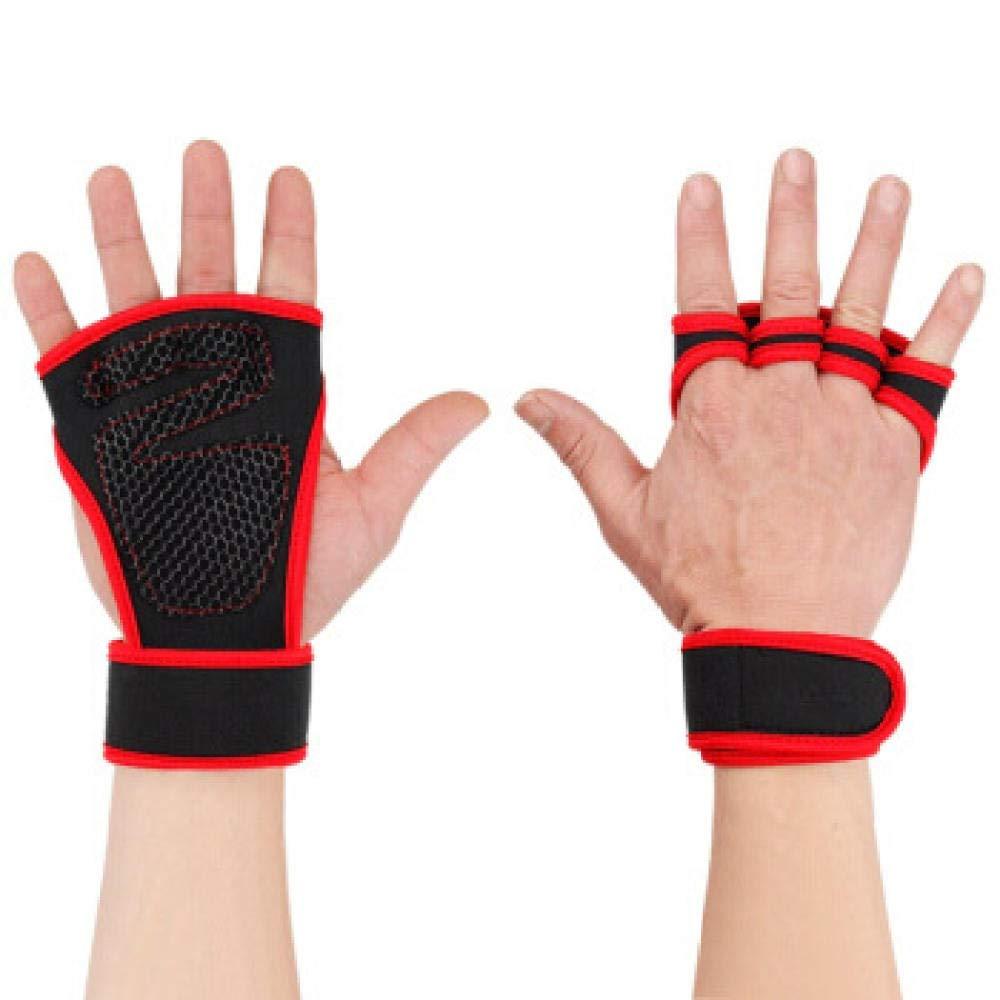 Rot M LEIHONGJIE Paar Gewichtheben Trainingshandschuhe Frauen Männer Fitness Sport Bodybuilding Gymnastik Griffe Gym Hand Palm Handschuhe