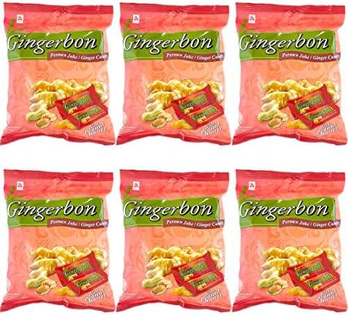 まとめ買いセット Gingerbon ジンジャーボン Ginger Candy 生姜ソフトキャンディー 125g×6袋 プラス ピーナッツバター [海外直送品]