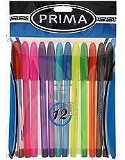 Prima Flash Ballpoint Pen Set of 12 Assorted Colors