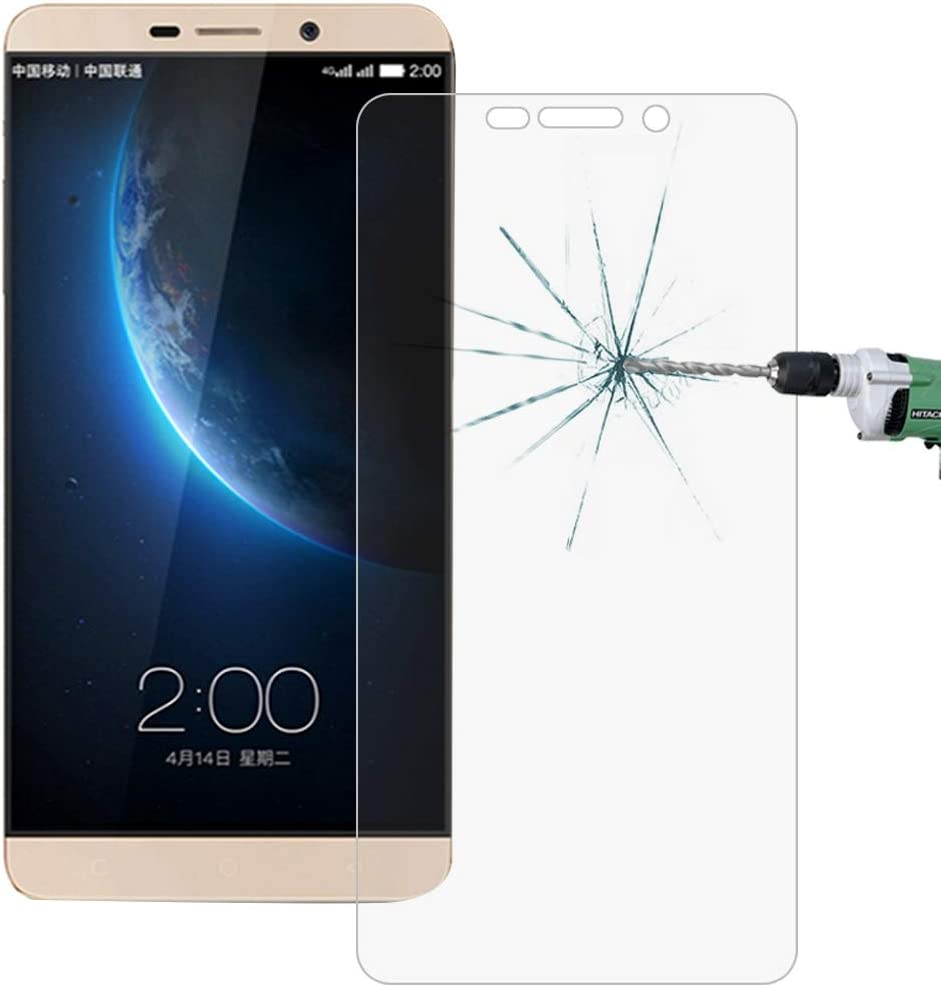 GzPuluz Glass Protector Film 100 PCS Letv Le Max 0.26mm 9H Surface Hardness 2.5D Explosion-Proof Tempered Glass Screen Film