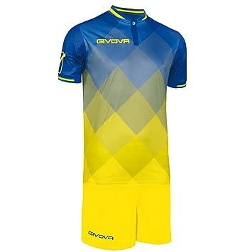 Givova, kit shade, azul/amarillo, M