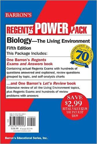 Book Biology Power Pack (Regents Power Packs)