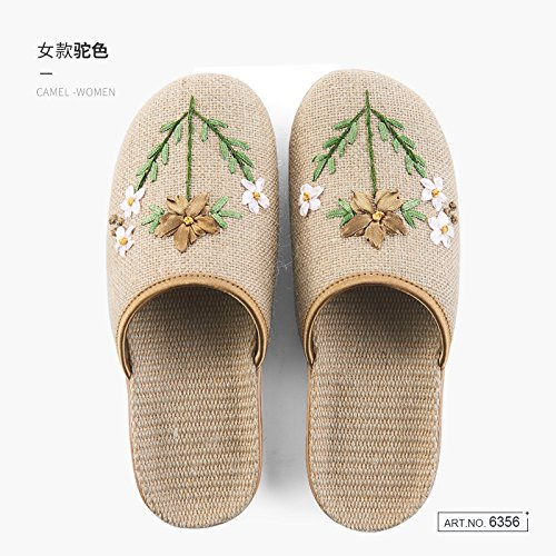 During Summer The Home Slippers And g Fankou Women Autumn Linen Minimalist 37 Home Are Spring 38 Indoor Seasons Rooms Baotou Four Og7nz47