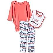 Best Beginnings Baby Girls' Printed Bodysuit Pant Set, Blue/Multi, 6M