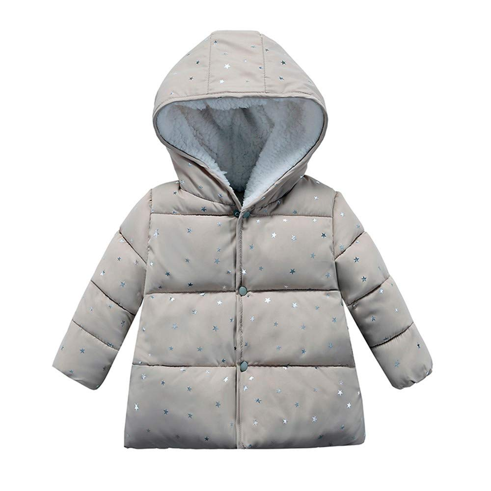 Londony ♪❤ Clearance Sales,Baby Unisex Hooded Winter Jacket Toddler Girls' Boys Fleece Lined Dot Puffer Jacket Coat Londony007