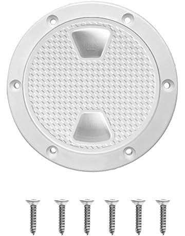 perfeclan Tapa de Inspección de Barco - Escotilla Tapón de Rosca de Barco Blanco