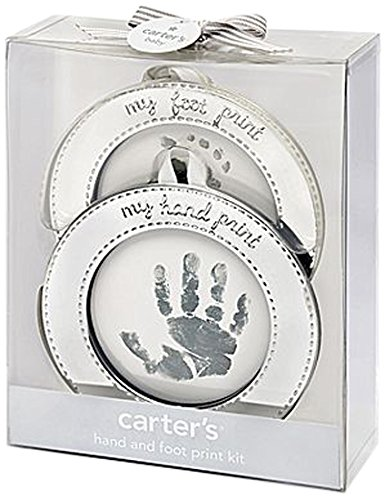 Carter's Hand and Foot Print Keepsake, Silver