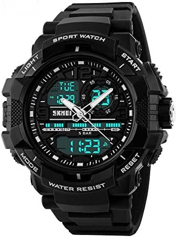 SKMEI 1164 Good Quality Japanese-quartz LED And Pointer Display 50M Waterproof Sports Watch
