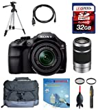 Sony a3000 alpha a3000 ILCE-3000K/B, ILCE3000 w/ 18-55mm Zoom Lens + Sony E 55-210mm F4.5-6.3 Lens + Deluxe Accesory Kit