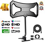 AONE 150 Miles Outdoor HDTV Antenna - Upgraded TV Antenna Long Range Omni-Directional Digital TV Antenna with Pole Mount for 4K/1080p/FM/VHF/UHF Free Channels High Definition RG6 Copper 32ft Cable