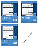 Adams Job Invoice Unit Set, 8.5 x 11.44 inch, 2-Part, Carbonless, 300-Pack, White (NC2817) - Bundle Includes Universal Letter Opener (3 Pack Bundle)