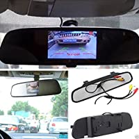 E-best®4.3 Inch TFT Car Auto LCD Screen Rear Monitor View Rearview DVD Av Mirror; High Resolution 4.3 Color TFT LCD Car Rearview Mirror Monitor 4.3 Inch 16:9 Screen Dc 12v Car Monitor for DVD Camera VCR