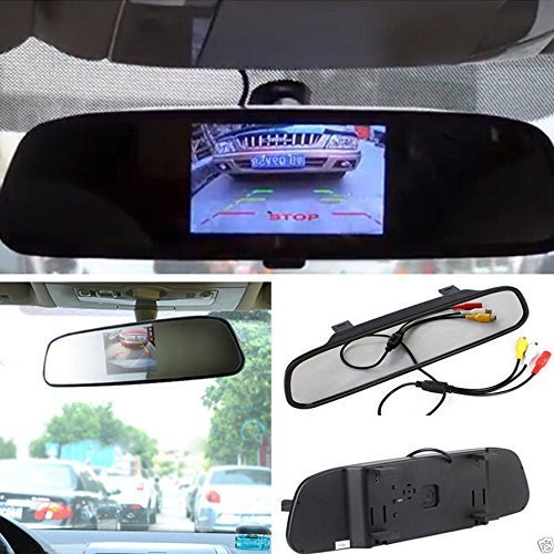 E-best4.3 Inch TFT Car Auto LCD Screen Rear Monitor View Rearview DVD Av Mirror; High Resolution 4.3