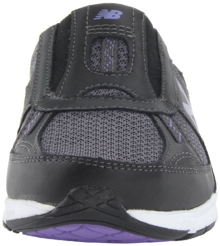 888098229813 - New Balance Women's WW520 Walking Shoe,Black/Purple,8 2A US carousel main 3
