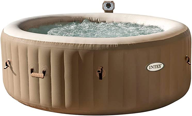 Intex 28404 Hinchable Burbujas sin cobertor Full SPA, Beige/Caqui, 4 Personas: Amazon.es: Jardín