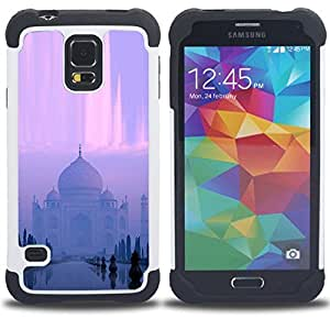 For Samsung Galaxy S5 I9600 G9009 G9008V - Cute Girrafe Close Up Dual Layer caso de Shell HUELGA Impacto pata de cabra con im????genes gr????ficas Steam - Funny Shop -