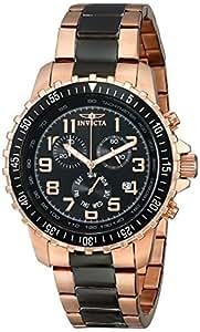 Invicta Watch - Reloj cronógrafo de cuarzo para hombre con correa de acero inoxidable, color oro rosa