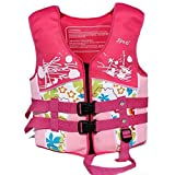 Rayma 2016 Children Buoyant Folding Life Jacket/life Vest Dynamic And Brightly colored Swimming Suit For Water Sports & Games Safety Swimsuit (Small)