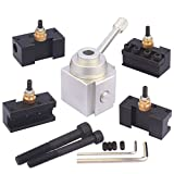 "Aluminum Alloy Quick Change Tool Post and Holder Kit for 7x10"", 7x12"", 7x14"", 7x16"", 9x16"" etc Mini Lathe"