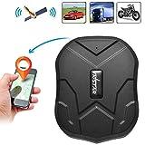 BINDEN Rastreador GPS TK905 con Potente Imán Ideal para Vehículo o Moto, Batería por hasta 90 Días, Resistente a la Lluvia, Alarma de Vibración, Límite de Velocidad y Geo-Cerca.