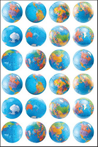 Hygloss Products Globe Themed Stickers 3/Pkg by Hygloss (Image #1)