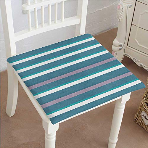 Mikihome Indoor/Outdoor All Weather Chair Pads Dark Teal Stripes Thick and Thin Lines with Aqua Colors Pattern Art Print Seat Cushions Garden Patio Home Chair Cushions 14