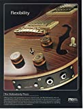 "Magazine Print Ad: 2006 Hollowbody Piezo, PRS Paul Reed Smith Guitars,""Flexibility"""