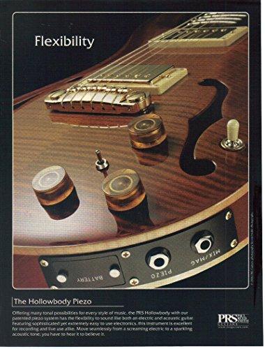 "Magazine Print Ad: 2006 Hollowbody Piezo, PRS Paul Reed Smith Guitars,""Flexibility"""
