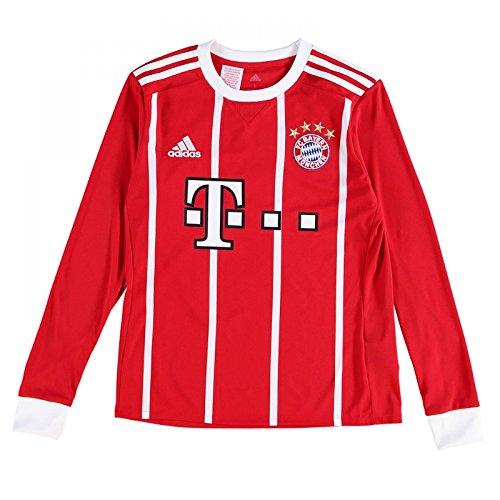 (adidas 2017-2018 Bayern Munich Home Long Sleeve Football Soccer T-Shirt Jersey (Kids))