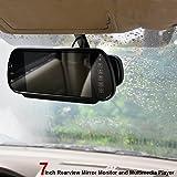 """E-KYLIN 7"""" Car Monitor in-Mirror LCD Screen MP5"""