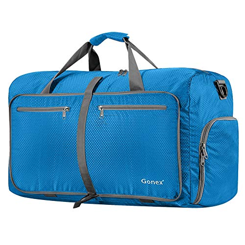 - Gonex 80L Packable Travel Duffle Bag, Large Lightweight Luggage Duffel (Blue)