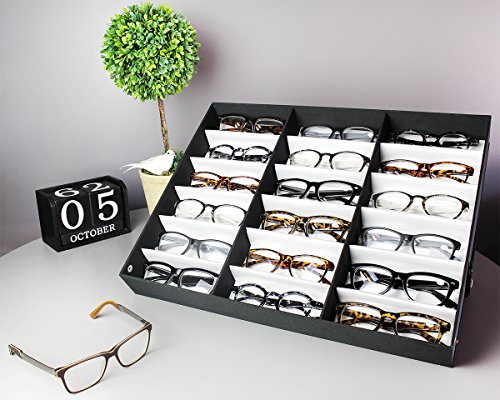 Juvale Eyewear Storage Tray Display Case - 18 Slots Eyeglasses Sunglasses - 18.5 x 14.25 x 2.5 inches by Juvale (Image #3)