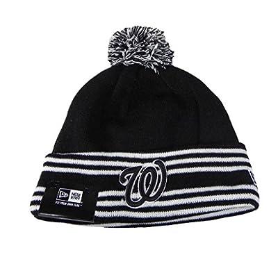 New Era Beanie MLB Sport Knit Headwear Washington Nationals Men Size Hat Black