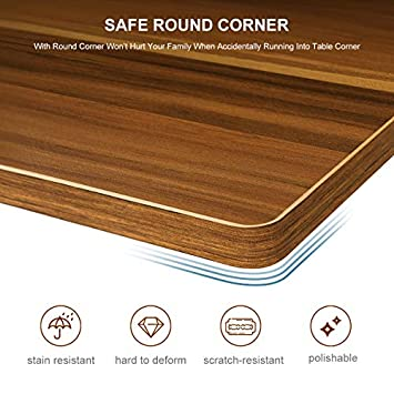 Homemaxs C Table Sofa Side End Table Wood Finish Steel Construction Easy Assembly 26-Inch for Small Space