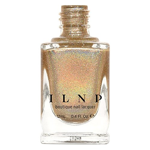 Reviews Yellow Gold Overlay - ILNP I See You - Delicate Champagne Holographic Nail Polish