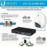 Ubiquiti UniFi UVC-G3-DOME Video Camera 1080p + Infrared +UVC-NVR-2TB Video Recorder 2TB Hard Drive