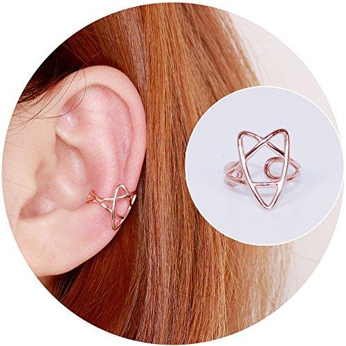 Clip Rose Earrings - 5