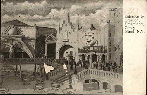 Dreamland Island Coney (Entrance to Creation, Dreamland, Coney Island New York, New York Original Vintage Postcard)