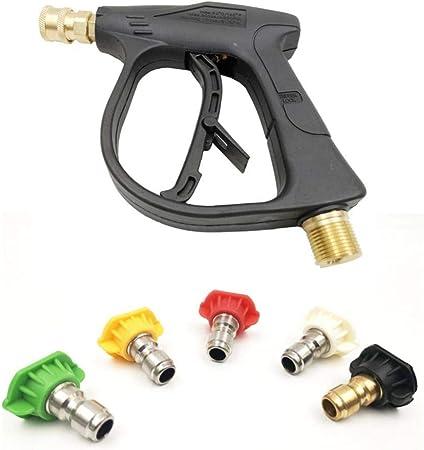 UK High Pressure Washer Spray Gun Cleaner Jet Lance Trigger Washing M22 Adapter