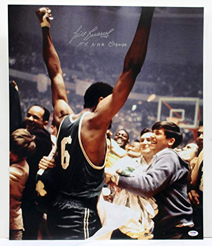 BILL RUSSELL SIGNED AUTOGRAPHED 20X24 PHOTO 11 X NBA CHAMPS PSA/DNA G69092