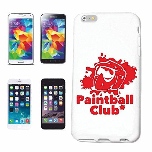 """cas de téléphone iPhone 7+ Plus """"PAINTBALL CLUB PAINTBALL CLUB ÉQUIPE BOULES COULEUR PAINTBALL GUN MARQUEUR PAINTBALL SHOP"""" Hard Case Cover Téléphone Covers Smart Cover pour Apple iPhone en blanc"""