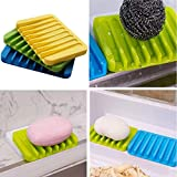 VT BigHome Creative Silicone Soap Dish Bath Storage Sink Holder Hanging Bag Sponge Drain for Bathroom Silicone draining soap Holder