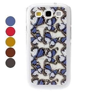 HOR Mariposa Caso duro del patrón para Samsung Galaxy S3 I9300 (colores surtidos) , Amarillo