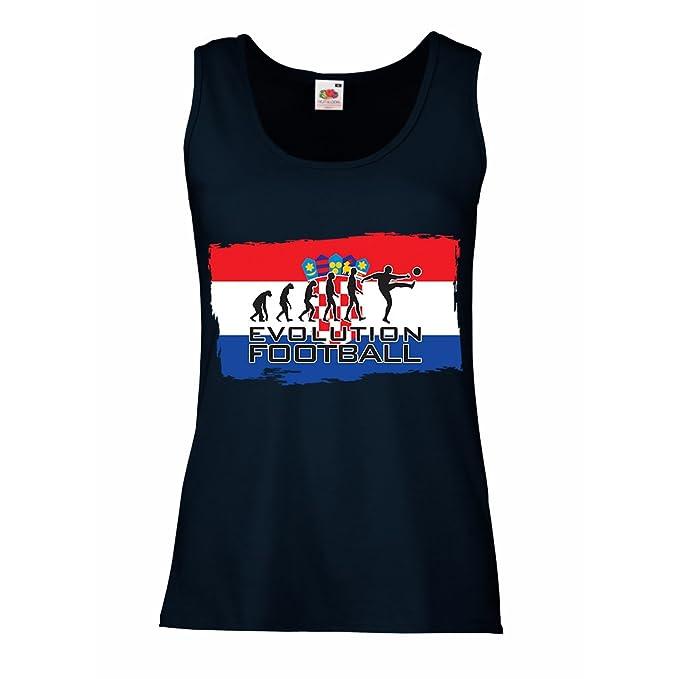 lepni.me Camisetas sin Mangas para Mujer La Evolución del Equipo Nacional de Fútbol de Croacia, Copa Mundial 2018 Rusia: Amazon.es: Ropa y accesorios