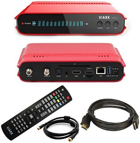 Viark DROI 4K Combo DVB-S2 - Receptor satélite DVB-C/T2 Andoid WiFi y Cable de Antena HDTV Sat (1,5 m)