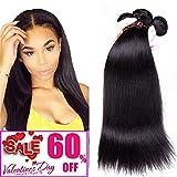 Mink 8A Virgin Malaysian Straight Hair 3 Bundles Deals 100% Unprocessed Virgin Human Hair Weaving Remy Human Hair Extensions 300g Natural Black (18″ 20″ 22″, Natural Color) Review