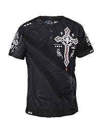 Affliction Centrifugal Short Sleeve Henley T-Shirt