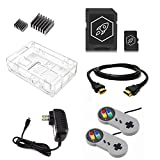 Raspberry pi 3 Retro Gaming Kit with USB Gamepads for Retropie Recalbox RetroArch and Emulation Station