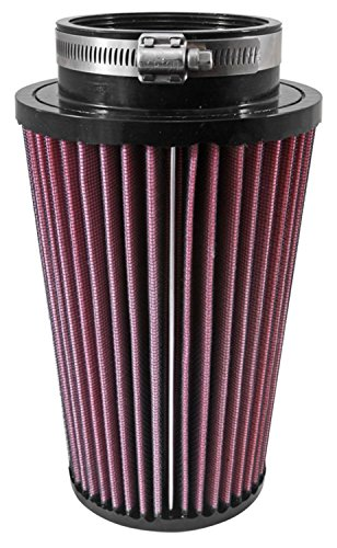 Airaid 700-045 Universal Clamp-On Air Filter: Round Tapered; 3.5 in (89 mm) Flange ID; 9.125 in (232 mm) Height; 5.469 in (139 mm) Base; 3.969 in (101 mm) Top